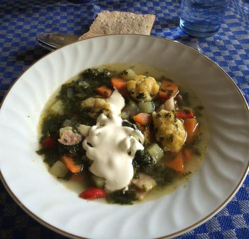 Suppe av brennesle