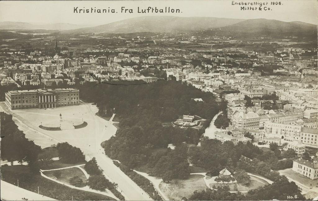 Utsikt-mot-slottet-slottsparken-Briskeby-og-Frogner.