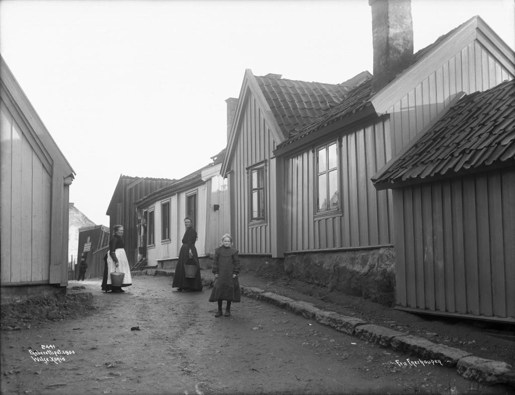 «Foto fra Enerhaugen: Anders B. Wilse/Oslo Museum».