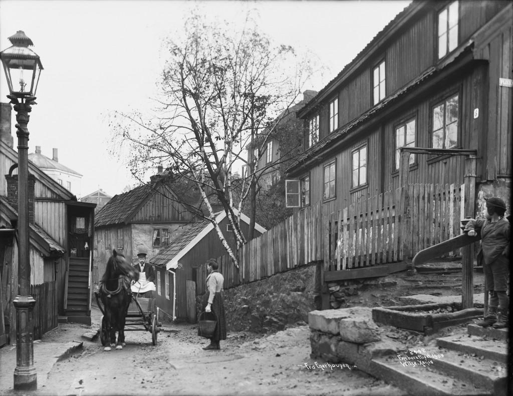 """Foto fra Enerhaugen: Anders B. Wilse/Oslo Museum»."