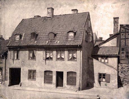 Høkergård på Vaterland. Foto: Ukjent fotograf / Norsk Teknisk Museum