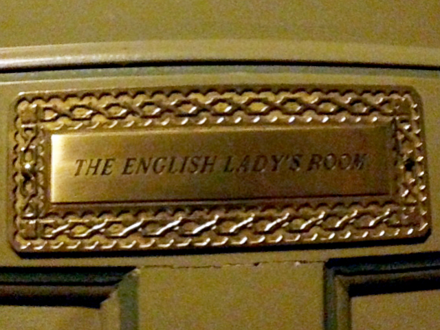 The English Lady's room