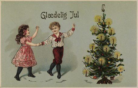 Julekort fra Tyskland, ca. 1910. Kilde: Nasjonalbiblioteket