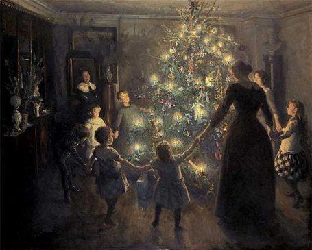 «Glade jul» av Viggo Johansen (1891), Wikipedia