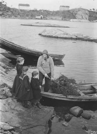 Fiskerens juletre, 1908. Foto: A.B. Wilse, Nasjonalbiblioteket