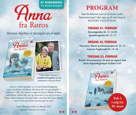 Klikk for å se programmet for lanseringen av Anna fra Røros.
