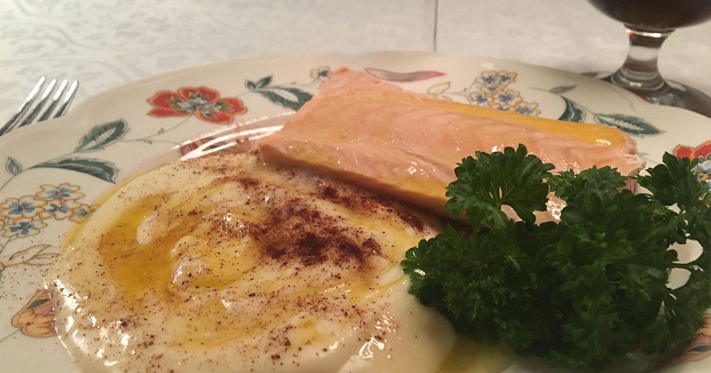oppskrift på rømmegrøt og fisk